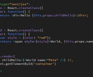 讓網頁設計軟體, Adobe Dreamweaver CC 2017 CodeMirror 支援 React (jsx) 語法高亮